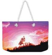 Tree Top Sunrise Weekender Tote Bag