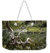Tree Trunk In The Meadow Weekender Tote Bag