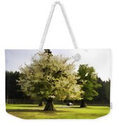 Tree With Large White Flowers Weekender Tote Bag
