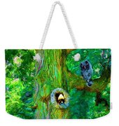 Tree With Owl Gnome And Mushroom Weekender Tote Bag
