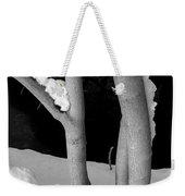 Tree With Snow Weekender Tote Bag