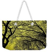 Trees Abstarct Yellow Weekender Tote Bag