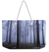 Trees Along Greenlake In Fog Weekender Tote Bag