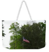 Trees And Flag Weekender Tote Bag