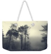 Trees And Fog At Castle Hill Weekender Tote Bag