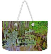 Trees And Knees In Tupelo/cypress Swamp At Mile 122 Of Natchez Trace Parkway-mississippi Weekender Tote Bag