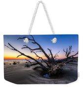 Trees At Driftwood Beach Weekender Tote Bag by Debra and Dave Vanderlaan