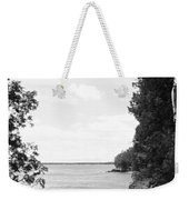 Trees At The Lakeside, Cave Point Weekender Tote Bag