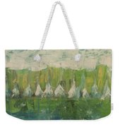 Trees By The River Weekender Tote Bag