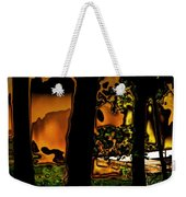 Melted Sunset Abstract Weekender Tote Bag