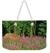 Trees In A Forest, Germany Weekender Tote Bag