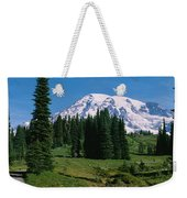 Trees In A Forest, Mt Rainier National Weekender Tote Bag