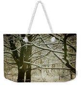 Trees In Snow Weekender Tote Bag