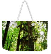 Trees In The Hoh National Rain Forest Weekender Tote Bag