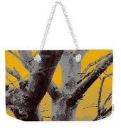 Winter Trees In Yellow Gray Mist 1 Weekender Tote Bag