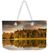 Trees Lining The Waters Edge Reflected Weekender Tote Bag