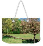 Trees On A Field, Davidson River Weekender Tote Bag