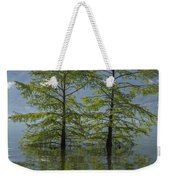 Trees On A Flooding Alpine Lake Weekender Tote Bag
