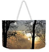 Trees On Misty Morning Weekender Tote Bag