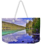 Trees Reflected At Valley Of The Five Lakes Weekender Tote Bag