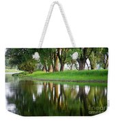 Trees Reflection On The Lake Weekender Tote Bag by Heiko Koehrer-Wagner