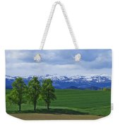 Trees With Mountains Weekender Tote Bag