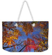 Treetops In Fall Forest Weekender Tote Bag