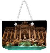 Trevi Fountain Illuminated At Nighttime Weekender Tote Bag