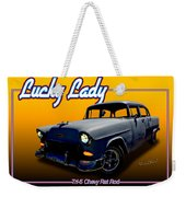 Tri-5 Chevy Rat Rod Lucky Lady Weekender Tote Bag