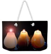 Tri Candles Weekender Tote Bag
