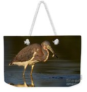 Tricolor Heron With Small Fish Weekender Tote Bag