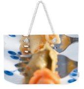 Tri Color Tortellini In Row Weekender Tote Bag
