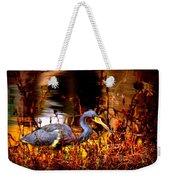 Tri Colored Heron - Reflection Weekender Tote Bag