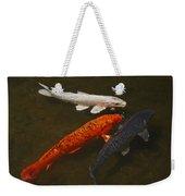 Tri-colored Koi Weekender Tote Bag