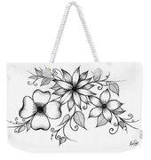 Tri-floral Sketch Weekender Tote Bag