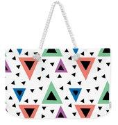 Triangular Dance Repeat Print Weekender Tote Bag