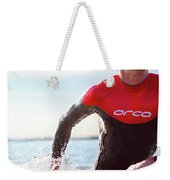 Triathlete And Two Time Iron Man Winner Weekender Tote Bag