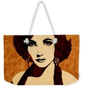 Tribute To Elizabeth Taylor Coffee Painting Weekender Tote Bag