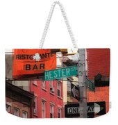 Tribute To Little Italy - Hester And Mulberry Sts - N Y Weekender Tote Bag