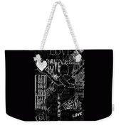 Tribute To Love In Black Weekender Tote Bag