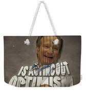 Tribute To Robin Williams Typography Weekender Tote Bag