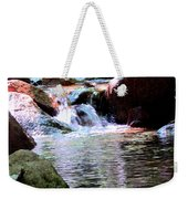 Trickle Down The Mountain Weekender Tote Bag