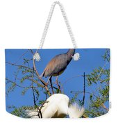 Tricolored Heron And Snowy Egret Weekender Tote Bag