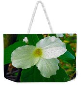 Trillium In The Forest Weekender Tote Bag