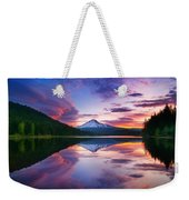 Trillium Lake Sunrise Weekender Tote Bag