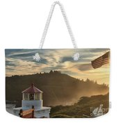Trinidad Beach Lighthouse Weekender Tote Bag by Adam Jewell