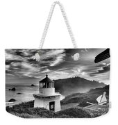 Trinidad Light In Black And White Weekender Tote Bag by Adam Jewell