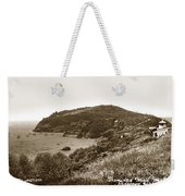 Trinidad Memorial Lighthouse And Fog Bell With Trinidad Head Circa 1948 Weekender Tote Bag