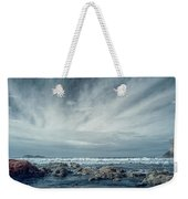 Trinidad State Beach In Infrared Weekender Tote Bag
