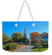 Trinity Church In Queen Anne Square In Newport Weekender Tote Bag